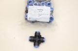 10x FESTO10x FESTO QSX-12 QSX Ø12mm Kreuz X Steckverbinder 4 fach 153287
