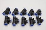 10x FESTO QST-B-10-10 10mm 10mm T-Steckverbinder