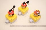 3x SCHNEIDER ELECTRIC Schalter Notaus mit Schlüssel 1L1337